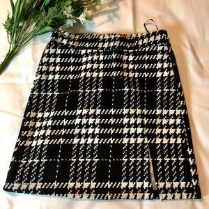 Houndstooth mini skirt NWOT